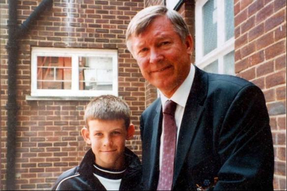 Bale e Alex Ferguson... há muito tempo atrás!