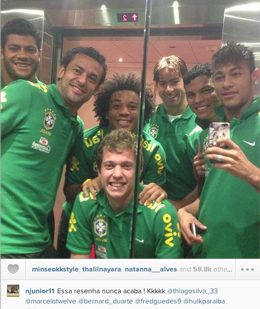 Jogadores da seleção brasileira na Suiça