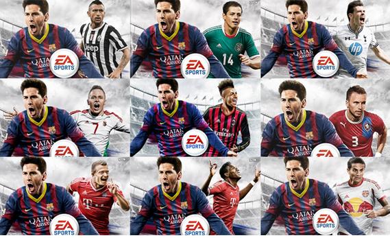 Todas as capas de Fifa 14