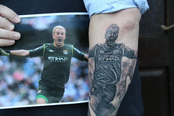 Tatuagem Joe Hart Manchester CIty