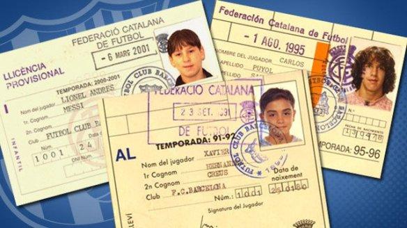 Xavi Puyol Messi criança